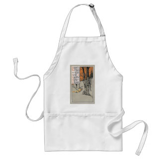 Winter Trees and Orange Sky Vintage New Year Aprons