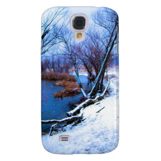 Winter Trees and Pond Galaxy S4 Cover
