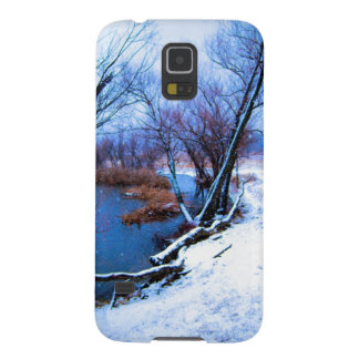 Winter Trees and Pond Galaxy S5 Case