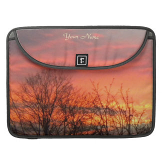 Winter Trees At Sunset Monogram MacBook Pro Sleeve