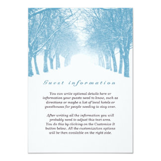 Winter Trees Avenue Wedding Insert Card