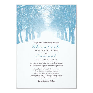 Winter Trees Avenue Wedding Invitation