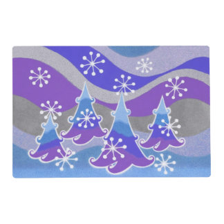 Winter Trees Blue placemat