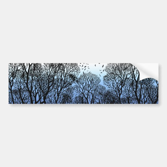 Winter Trees Bumper Sticker