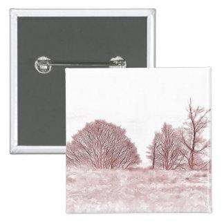 WINTER TREES 2 INCH SQUARE BUTTON