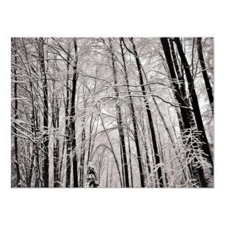 Winter trees card