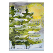 Winter Trees Card