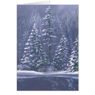 """Winter trees"" Christmas fine art seasonal card"