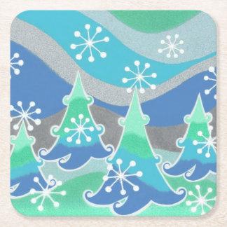Winter Trees coaster square