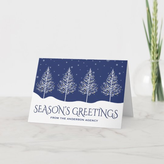 Winter trees corporate business holiday greetings zazzle winter trees corporate business holiday greetings m4hsunfo
