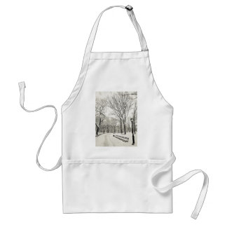 Winter Trees Covered in Snow Adult Apron