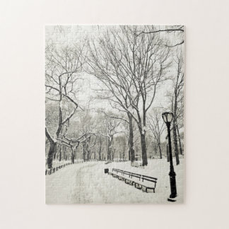 Winter Trees Covered in Snow Jigsaw Puzzle