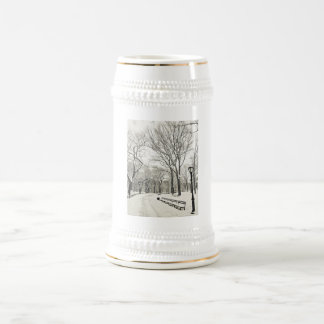 Winter Trees Covered in Snow 18 Oz Beer Stein