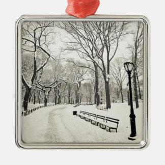 Winter Trees Covered in Snow Christmas Ornament