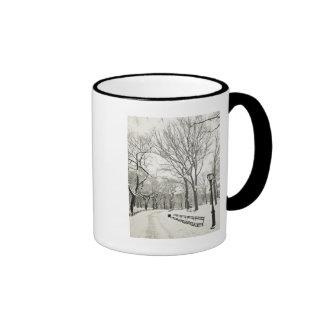 Winter Trees Covered in Snow Ringer Mug