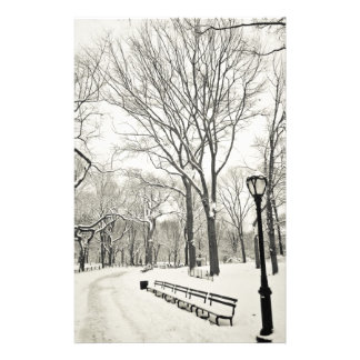 Winter Trees Covered in Snow Stationery