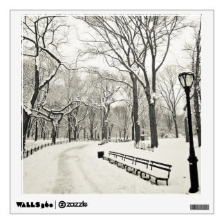 Winter Trees Covered in Snow Wall Decal