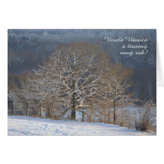 Winter trees Czech Christmas card