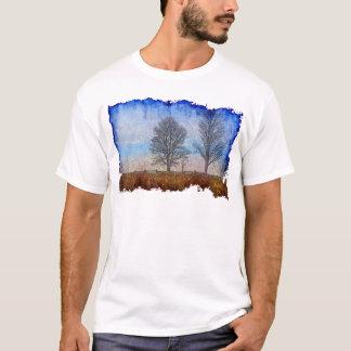 Winter Trees & Farm Fences Pasture Art T-Shirt