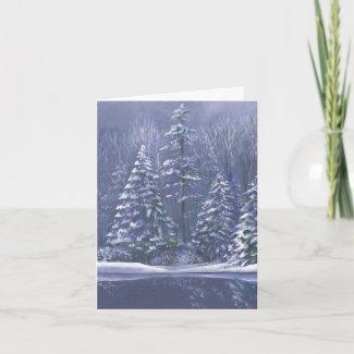 """Winter trees"" fine art card"