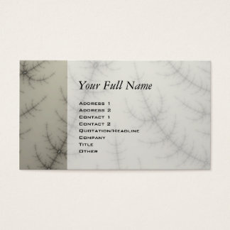 Winter Trees Fractal Business Card