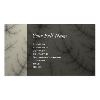 Winter Trees Fractal Business Card Template