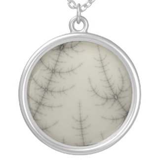 Winter Trees Fractal Silver Plated Necklace
