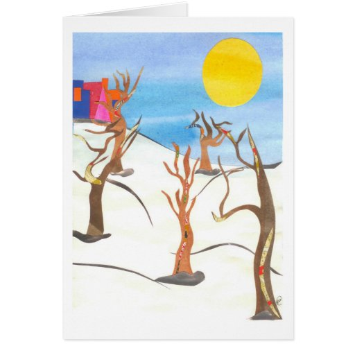Winter Trees Greeting Cards