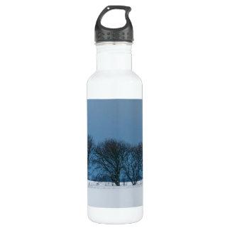 Winter trees in snow 24oz water bottle