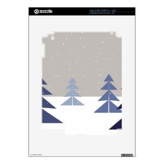 Winter trees iPad 2 skins