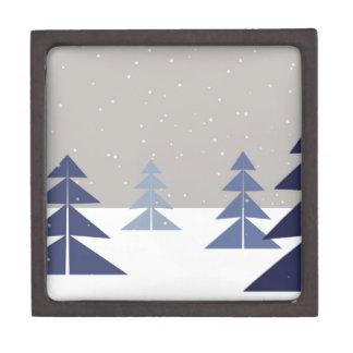 Winter trees jewelry box