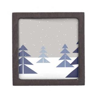 Winter trees keepsake box