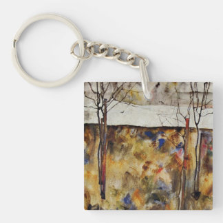 Winter Trees Keychain