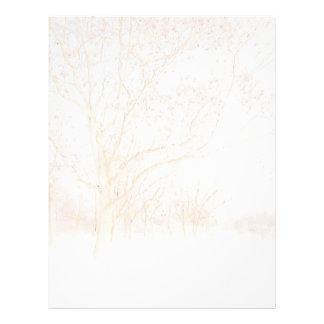Winter Trees Letterhead Design