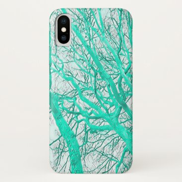 Winter Trees (mint green) iPhone XS Case