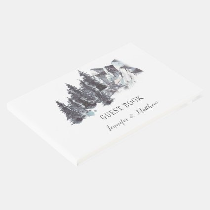 Winter Trees Mountains Guest Book