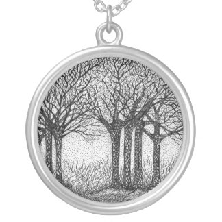 Winter Trees Necklace