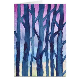 Winter trees Notecard