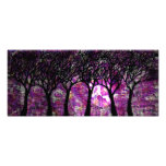 Winter Trees over alcohol ink Background Photo Print
