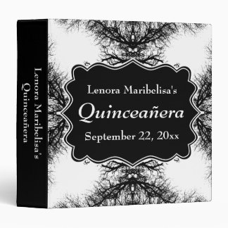 Winter Trees Pattern Quinceanera 3 Ring Binder