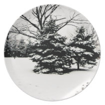 Winter Trees Plate