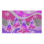 Winter Trees Purple business card white