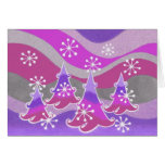 Winter Trees purple 'Happy Holidays' card