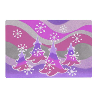 Winter Trees Purple placemat