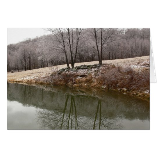 Winter Trees Reflected Card