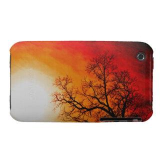Winter Trees & Setting Sun Branches Nature Scene iPhone 3 Case-Mate Case