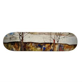 Winter Trees Skate Board
