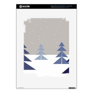 Winter trees skin for iPad 3