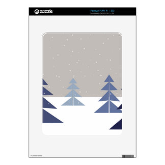 Winter trees skins for iPad