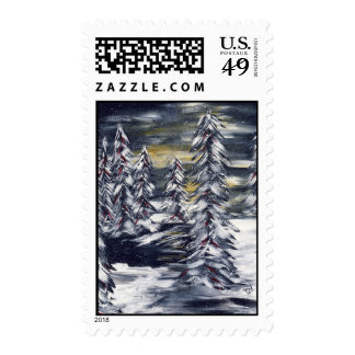 Winter Trees Stamps